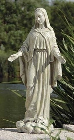"24"" Our Lady of Grace Outdoor Statue. Resin/Stone Mix"