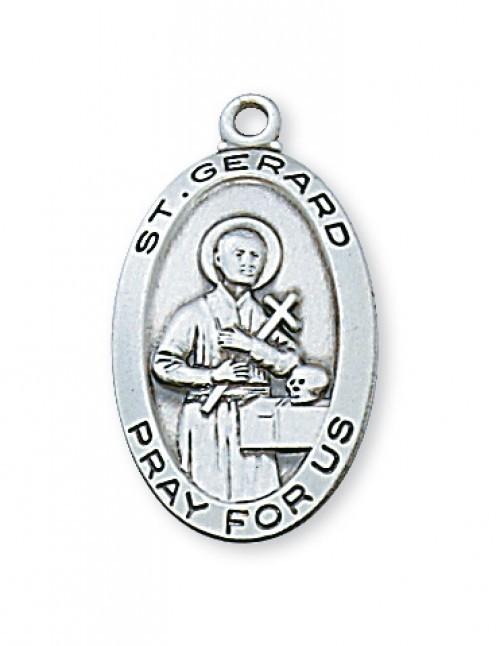 St gerard sterling silver medal st jude shop inc sterling silver saint gerard medal with 18 inch chain aloadofball Image collections