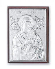 """4 1/2"""" x 3"""" Sterling Silver Our Lady of Perpetual Help Plaque"""