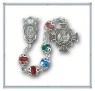 Multi Color Round Swarovski Crystal Saint Michael the Archangel Chaplet Rosary