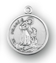 St. Francis with Dog Sterling Silver Medal