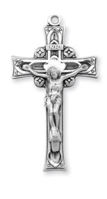 Men's Sterling Silver Embellished Crucifix