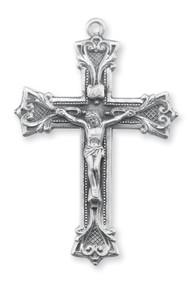 Men's Ornate Sterling Silver Crucifix