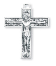 Men's Sterling Silver Passion of the Christ Crucifix