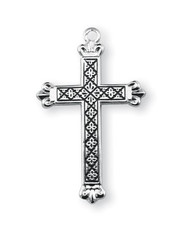 Black Enamel Pattern Cross