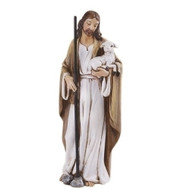 "Good Shepherd 4"" Statue. Made of a Resin/Stone Mix. Dimensions: 4""H x 1.5""W x 1.375""D"