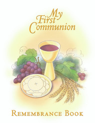 "My First Communion Remembrance Book is a beautifully illustrated personalized gift album which blends prayers, scripture, and Bible stories with scrap booking, photography, journaling, and other activities. A wonderful keepsake! 8-1/2""x 11"". 90 pages. Hardcover."