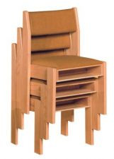 """Stackable chair with upholstered back  Chair has front and rear underseat book rack  Dimensions: 33"""" height, 20""""width, 19"""" depth  Removable folding kneeler available at an additional cost"""