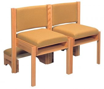 """With front and rear underseat book racks  Dimensions: 33"""" height, 21"""" width, 19"""" depth  Sliding kneeler available at an additional charge"""
