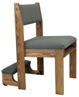 """Stacking chair with curved back, 2"""" seat foam and front facing or rear underseat book rack.  Stacks 4 high  Dimensions: 33"""" height, 20"""" width, 19"""" depth"""