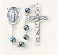 Round Genuine Hematite Rosary