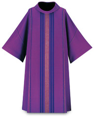 "In Moses, fabric made of 70% man-made fibres and 30% viscose, without embroidery With small deacon stole Length: 53"", Width: 59"", Neck height: 9"" Roll-Collar 4"" Color choices: dark green, purple, red, and white These items are imported from Europe. Please supply your Institution's Federal ID # as to avoid an import tax.  Please allow 3-4 weeks for delivery if item is not in stock."