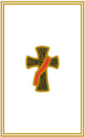 "Deacon Cross Announcement/Invitation. Gold Foil, Blank Inside. 4 1/2"" x 6 1/8"". 100 per box"