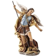 "6"" Saint Christopher Statue ~ Patron Saint of Hazardous Travel & Athletes. Dimensions: 6.25""H x 3.5""W x 1.75""D. Materials: Resin/Stone Mix"