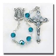 Rosary, Tin Cut Crystal Beads 1406