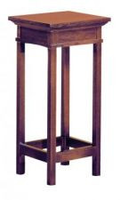 """Wooden flower stand demensions are 14""""W x 14""""D x 30""""H. Castors can be added for an additional cost. Select color stain."""