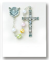 Rosary, 5mm Multi Color Faux Pearl Beads 1247