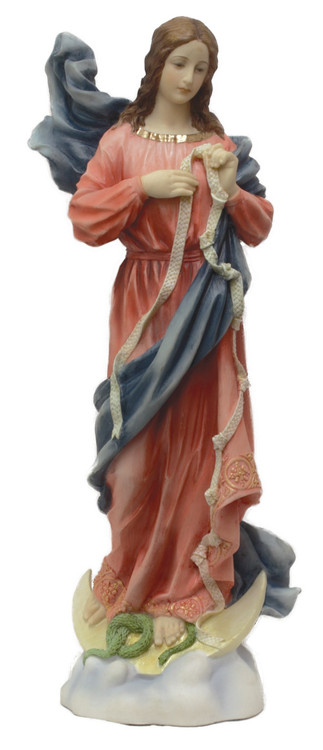 Our Lady Undoer of Knots from the Veronese Collection in fully hand-painted color, 12inches