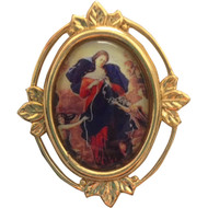 Mary Undoer of Knots Pin Tie Tack Back