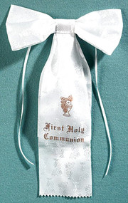 Satin First Communion Arm Bow