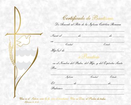 Certificado de Bautismo, Parchment Style - St. Jude Shop, Inc.