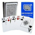 Marion Pro Jumbo Index - 100% Blue Plastic Poker Playing Cards