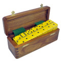 Domino Double Six Yellow in Wood Box