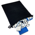 Domino Double Six Blue & White in Velvet Bag