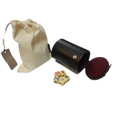 Snap closure to store 5 dice Canvas bag included