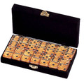 Domino Double Six Gold in Velvet Case