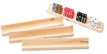 This set of four wooden domino racks makes a perfect addition to any gamer's collection. These domino racks also work great for other games like Mexican Boxcars, and can hold double six and double nine dominos. These racks feature a lovely light finish and are made of wood. These racks are a great way to neatly present and play any type of domino game!
