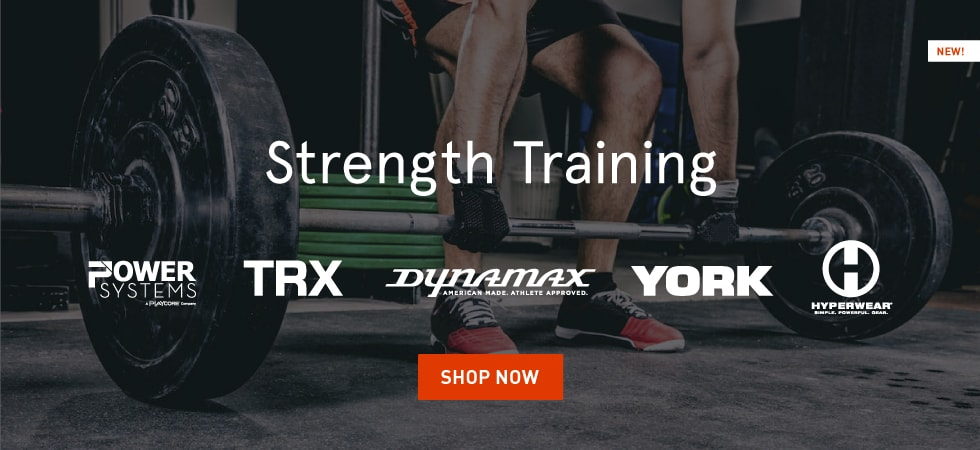 York, TRX, Power Systems, HyperWear, and Dynamax Strength Training Products
