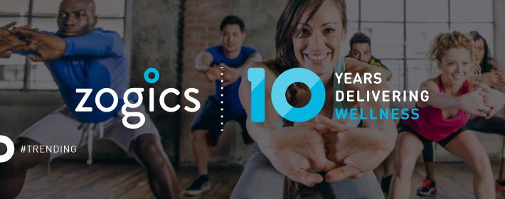 Zogics - A Decade of Wellness Infographic