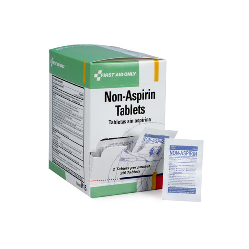 First Aid Only SmartCompliance SmartTab ezRefill, Non-Aspirin, 250 Tablets, I415F (125 packages/box)
