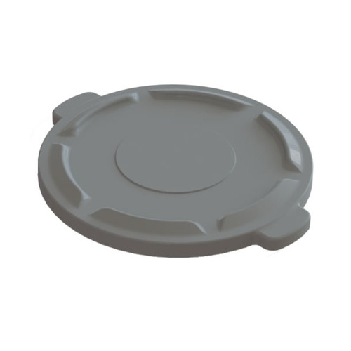 Value Plus Containers, Industrial Trash Can Lid, Grey