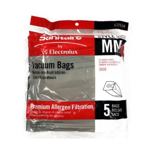 Sanitaire MM Commercial Vacuum Bag for Canister Vacuum, 63253A (5 pack)