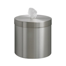 Wall Mounted Disinfectant Wipes Dispenser, Upward Dispensing, Satin Aluminum Finish, W1015-SA
