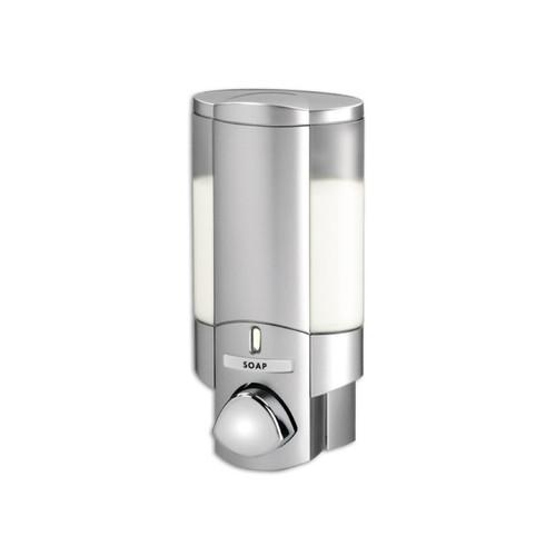 AVIVA Single Soap Dispenser, 1 Chamber, Satin Silver