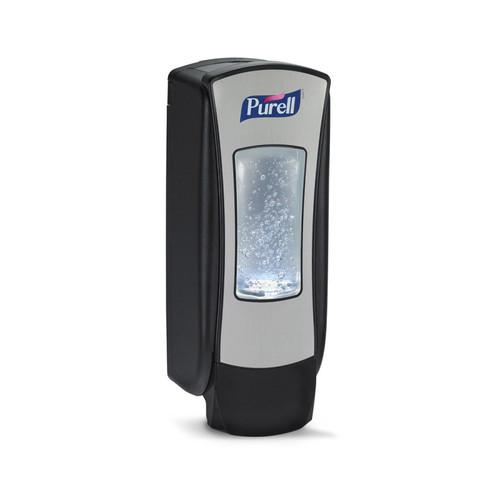 Purell ADX-12 Push-Style Hand Sanitizer Dispenser, 1200 mL, Brushed Chrome/Black (8828-06)