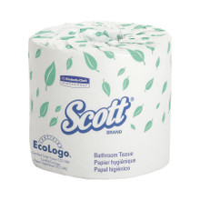 Kimberly-Clark Scott 1-Ply Standard Roll Bathroom Tissue, 05102 (1210 sheets/roll) (80 rolls/case)