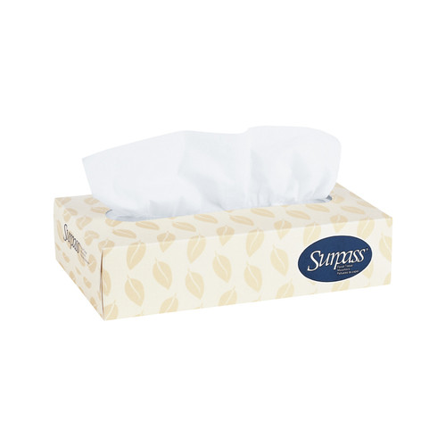 Kimberly-Clark Surpass Facial Tissue, 21390 (125 sheets/box) (60 boxes/case)