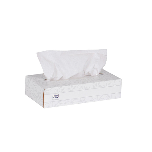 Tork Advanced Facial Tissue Flat Box, White (100 sheets/box) (30 boxes/case) (Tork TF6810)