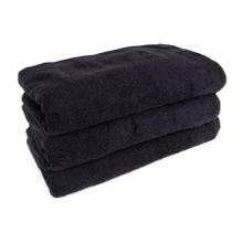 32x66 Pool Towel, Black, 200A Series, 18.5lb (200A-PT-Solid-Black)
