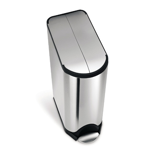 Simplehuman Butterfly Step Can, Stainless Steel, 45-liter, CW1897