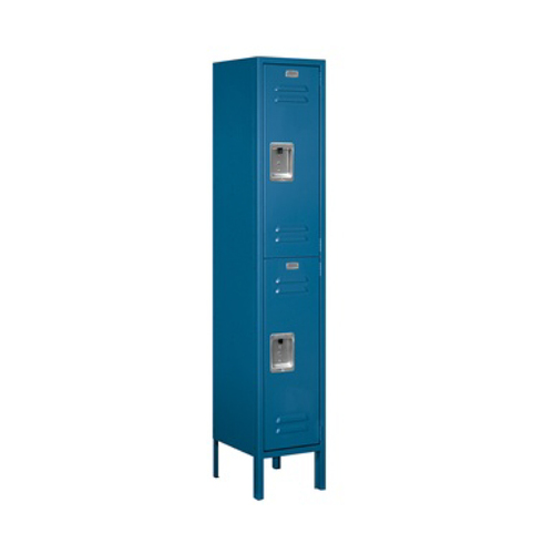 Salsbury Double Tier Standard Metal Locker Blue