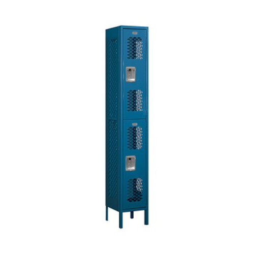 Salsbury Double Tier Vented Metal Locker Blue