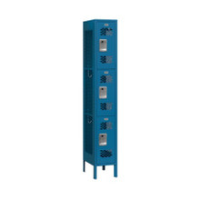 Salsbury Triple Tier Vented Metal Locker Blue