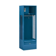 Salsbury Open Access Standard Metal Locker Blue