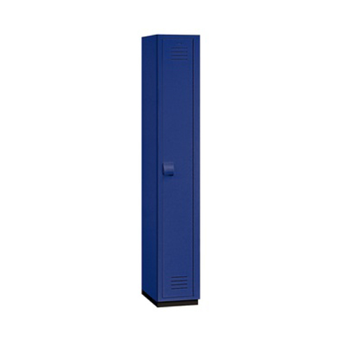 "Salsbury Single Tier Heavy Duty Plastic Locker, 18"" Deep Blue"