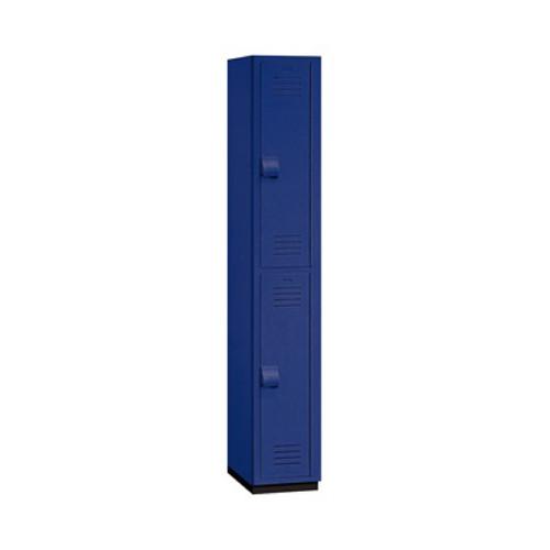 """Salsbury Double Tier Heavy Duty Plastic Locker, 18"""" Deep Blue"""